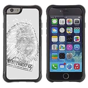 ZAKO Cases / Apple Iphone 6 PLUS 5.5 / Electricity Einstein / Robusto Prueba de choques Caso Billetera cubierta Shell Armor Funda Case Cover Slim Armor