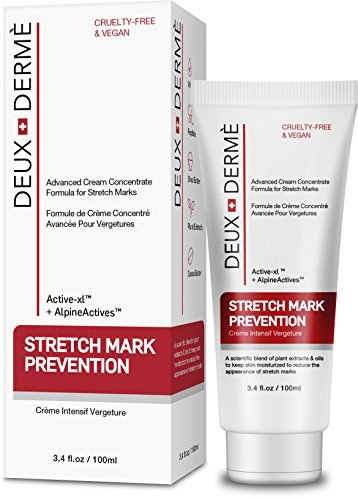 Deux Derme - Stretch Mark Prevention Cream, with Vitamin E, Cocoa Butter...
