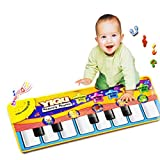 Piano Mat, Multi-function Musical Carpet Baby Toddler Activity Gym Play Mats, Fat.chot Baby Early Education Music Piano Keyboard Blanket Touch Play Safety Learn Singing Funny Toy for Kids