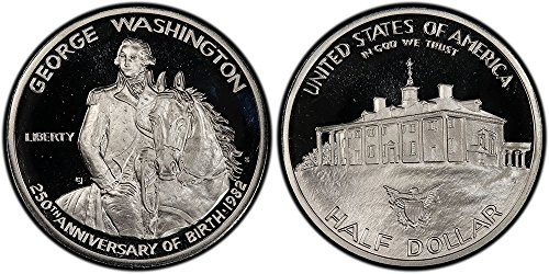 1982 S George Washington Commemorative Silver Half Dollar 50C (1/2) Proof DCAM US Mint