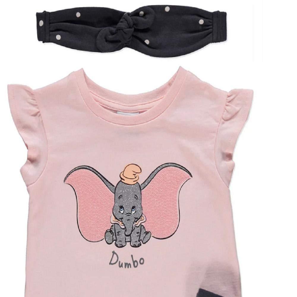 Leggings and Headband Set Girls Disney Dumbo Top 3-4 Years