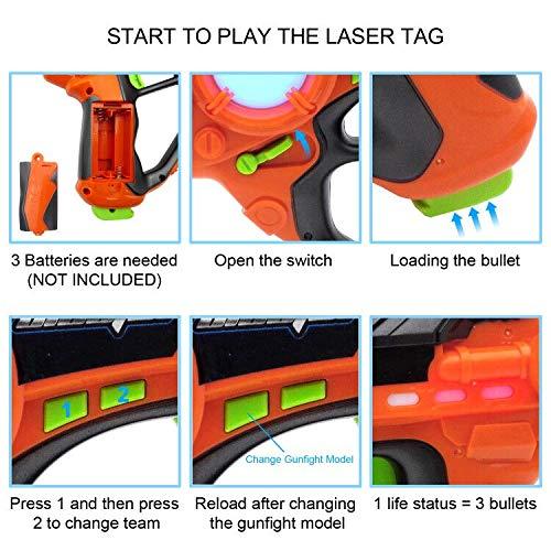 Laser Tag-Laser X Recoil Laser Tag Lasers Gun Toy Gun Set 2-Player Space Blaster Toys for Boy Gift Laser Tag Sets with Gun Games by Toyard (Image #4)