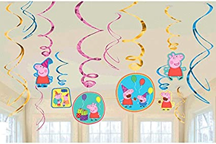 Table Decorating Kit Cedar Crate Market Peppa Pig Decorations Party Supplies Pack Jumbo Letter Banner and Hanging Swirls BirthdayExpress SG/_B073636KCP/_US