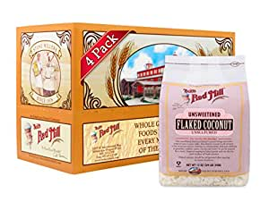 Bob's Red Mill Flaked Coconut (Unsweetened), 12-ounce (Pack of 4)