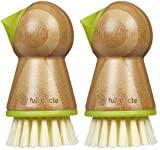 Full Circle Tater Mate Potato Brush with Eye Remover, Green, 2pk