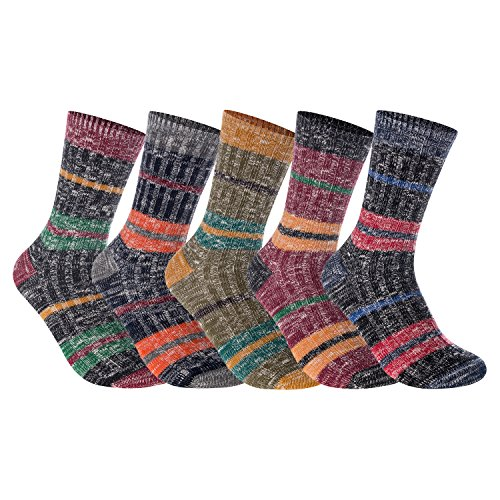 Lian Lifestyle Womens 5 Pairs Pack Combed Cotton Mixed Color Socks Size 7 9 5 Color