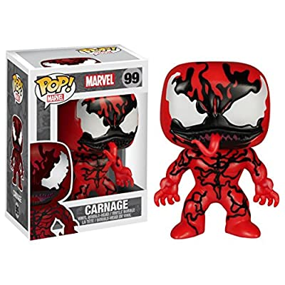 Marvel: Carnage Funko Pop! Vinyl Figure Hot Topic Exclusive (Includes Compatible Pop Box Protector Case): Toys & Games