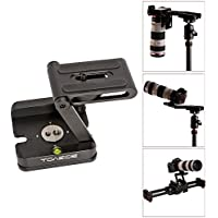 TOAZOE Z Type Foldable Desktop Stand Holder Tripod Flex Pan&Tilt with Ball Head Compatible Slide Rail Camera Camcorder Tripod with 1/4 and 3/8 Thread for Canon Nikon Sony Pentax