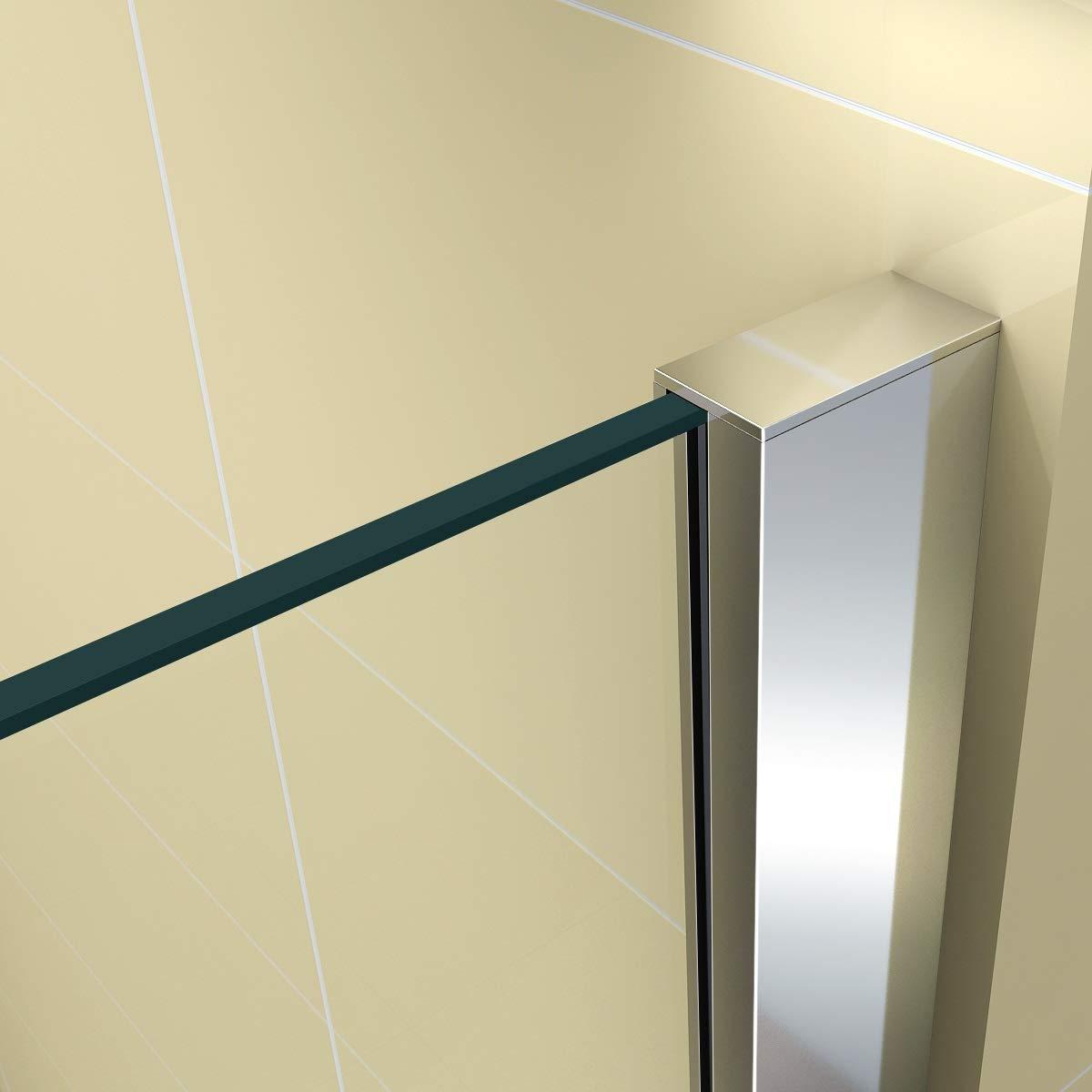 aus ESG Sicherheitsglas #668 Eckeinstieg Duschkabine Links und RECHTS montierbar i-flair Eckdusche 80cm x 70cm -T/ÜR:80cm