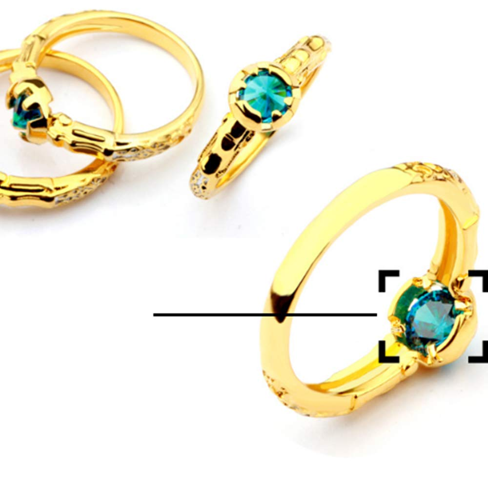 ShangYings Store League of Legends ADC The Prodigal Explorer Ezreal Zircon Ring Game Fans Jewelry