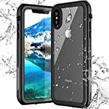 iPhone Xs/X Waterproof Case, ROBO iPhone Xs/X Case Waterproof Shockproof Snowproof Clear Slim Case for iPhone Xs/X (5.8 inch) (Black+Transparent)