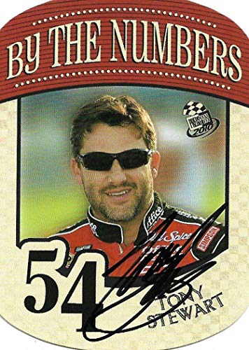 2009 Press Pass Behind The Numbers Tony Stewart Signed Auto NASCAR Trading Card NFL Cut Signatures
