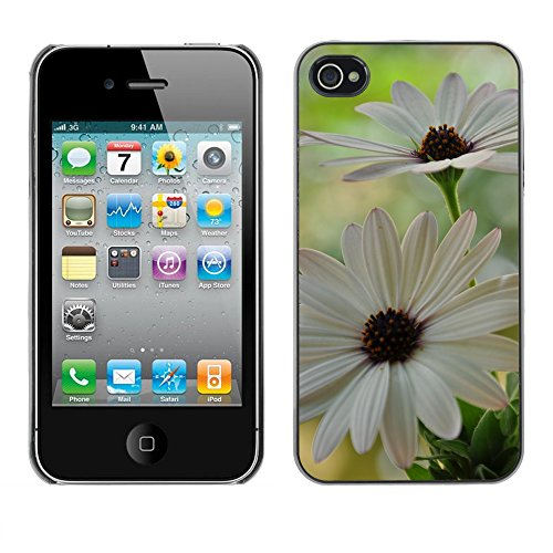 Premio Sottile Slim Cassa Custodia Case Cover Shell // F00004524 fleurs // Apple iPhone 4 4S 4G