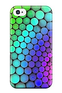 Durable Protector Case Cover With Molecular Geometry Hot Design For Iphone 4/4s