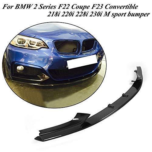 Jcsportline fits BMW 2 Series F22 Coupe F23 Convertible M Sport 2014-2018 Half Carbon Fiber Front Chin Spoiler Lip 218i 220i 228i 230i M235i M240i