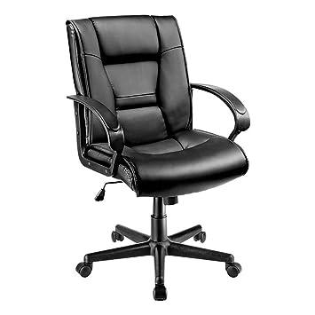 Remarkable Brenton Studio Ruzzi Vinyl Mid Back Chair 41 3 4H X 24 1 2W X 27 1 6D Black Alphanode Cool Chair Designs And Ideas Alphanodeonline