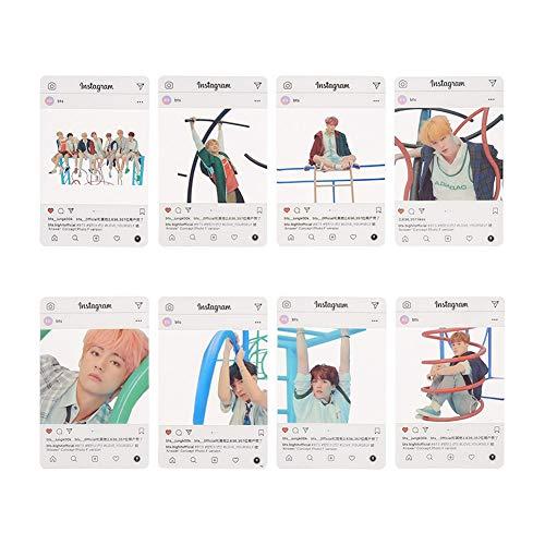Youyouchard BTS Bangtan Boys Love Yourself 结Answer BTS Photocards Kpop BTS Transparent Cards TPU Bangtan Boys Suga Jimin Jungkook Photo (H23: (8PCS))