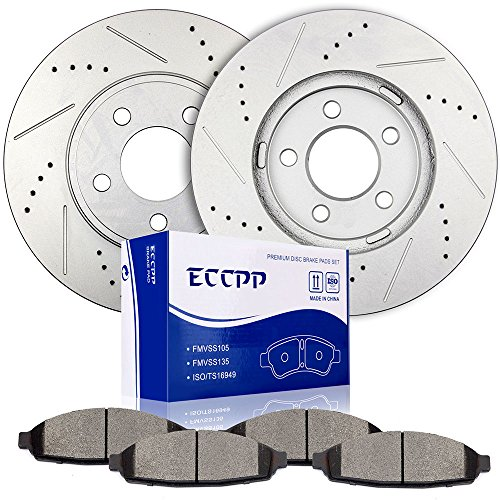 (ECCPP Front 305mm Discs Brake Rotors and Ceramic Brake Pads for 2003-2011 Ford Crown,2003-2011 Lincoln Town,2003-2010 Mercury Grand Marquis,2003-2004 Mercury Maraude)