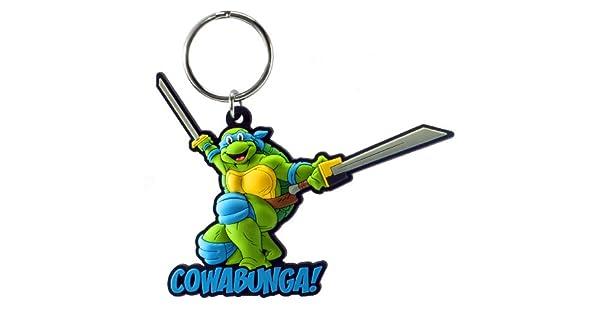 Amazon.com: Nickelodeon Leonardo Soft Touch PVC Llavero ...