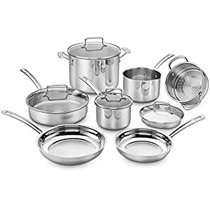 Cuisinart Chef's Classic Pro 11-Piece Cookware Set in Stainless Steel