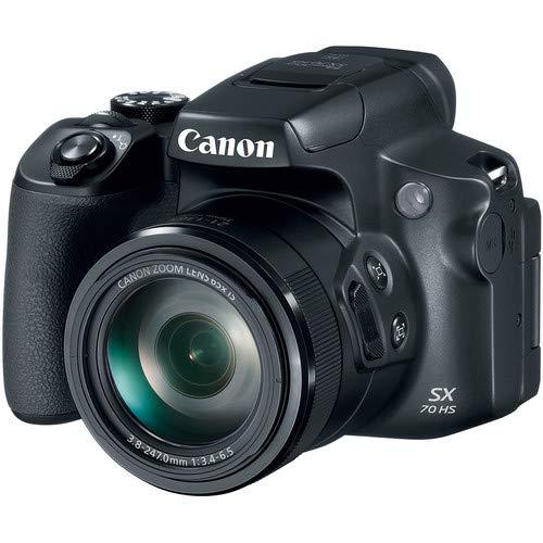 Canon PowerShot SX70 HS 4K Camera with Video-Ready Lexar U3 Memory Card, Monopod, Tripod, Camera Case and Accessory…