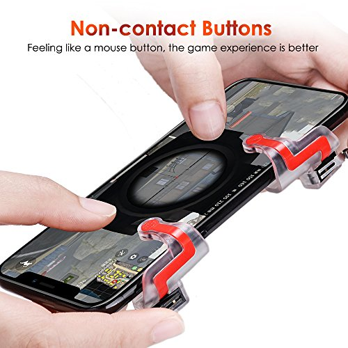 Qoosea Mobile Game Controller Triggers Gamepad L1 R1 Sensitive Shoot Aim  Joysticks Physical Buttons for PUBG/Knives Out/Rules of Survival for 4 5