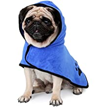 Zaote Microfibre Dog Towel Super Absorbent Pet Dog Bathrobe Easy Wear Moisture Absorbing Ultra Soft Bathrobe For Different Sizes Dogs