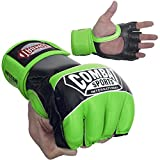 Ringside Combat Sports Pro Style MMA Gloves, Neon Green, X-Large