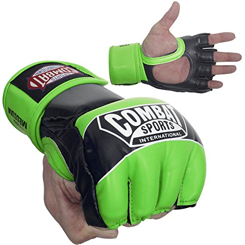 Ringside Combat Sports Pro Style MMA Gloves, Neon Green, X-Large ()