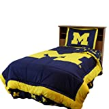 Michigan Reversible Comforter Set -King by College Covers