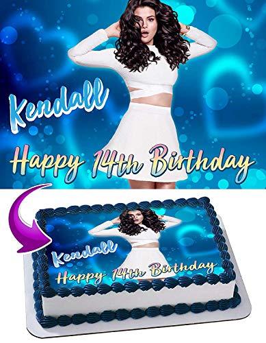 Selena Gomez Edible Image Cake Topper Party Personalized 1/4 Sheet