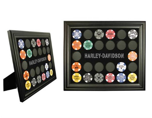 (Harley-Davidson Poker Chip Collectors Frame 6927)