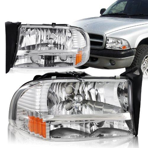 Dodge Durango Slt (Spec-D Tuning 2LH-DAK97-ABM Dodge Dakota/ Durango Slt Headlights Lamps 1Pc Chrome)