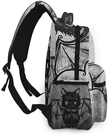 黒猫 バックパック リュック メンズ レディース 学生 男女兼用 防水 アウトドア カジュアル デイパック 多機能 収納 通勤 通学
