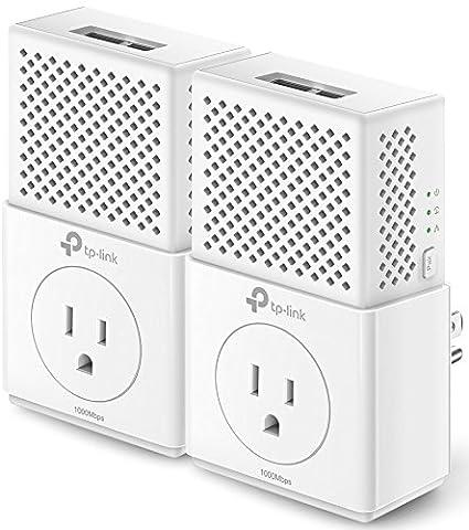 Amazon Com Tp Link Av1000 2 Ports Gigabit Powerline Ethernet