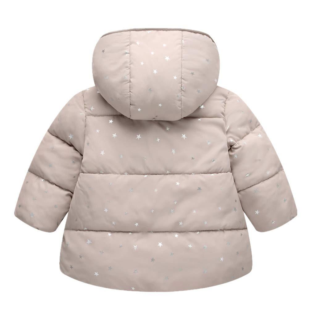 RACHAPE Girls Winter Coat Hooded Snow Jacket Fleece in Junior Snowsuit Big Kids Down Windproof Puffer Warm Outerwear Clothes