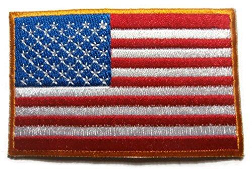 [PATCHLOVER AMERICAN FLAG Original DIY Embroidered Sew Iron on Patch American Flag Custom Applique for Jeans hat Caps Mechanic Gloves Jacket Vest Biker] (Mechanic Costume Diy)