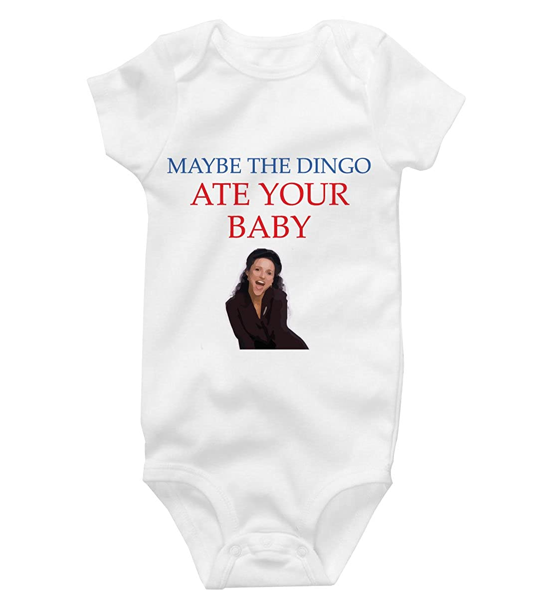 Vossamer Maybe The Dingo Ate Your Baby Seinfeld Parody Cute Onesie Funny Baby Bodysuit