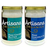 Artisana Organics - Coconut Butter & Coconut Oil Combo Two-Pack, Single Ingredient Handmade Rich & Thick Spread, USDA & QAI Organic Certified, Non-GMO, Vegan & Gluten Free (14 oz)