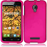 For Alcatel One Touch Fierce 7024W Cover Case (Hard Hot Pink)