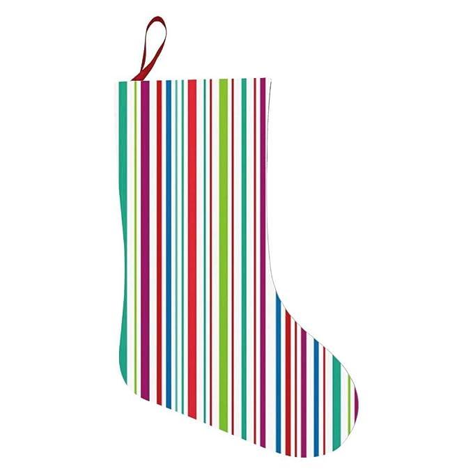 Amazon.com: Calcetines de Navidad con diseño de rayas de ...