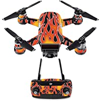 Skin for DJI Spark Mini Drone Combo - Hot Flames| MightySkins Protective, Durable, and Unique Vinyl Decal wrap cover | Easy To Apply, Remove, and Change Styles | Made in the USA