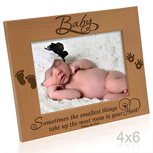 Kate Posh - Baby Picture Frame - Sometimes The Smallest Things take up The Most Room in Your Heart (Winnie The Pooh - 4x6 Horizontal) (Best Things For Your Heart)