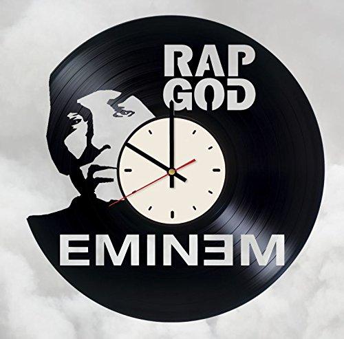 Eminem RAP GOD Vinyl Wall Clock Rapper Unique Gifts Living Room Home Decor