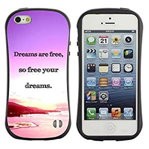 Suave TPU GEL Carcasa Funda Silicona Blando Estuche Caso de protección (para) Apple Iphone 5 / 5S / CECELL Phone case / / Dreams Ocean Purple Pink Sunset /