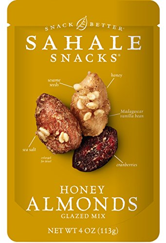 Roasted Sweet Fruit (Sahale Snacks Honey Almonds Glazed Nut Mix, 4 Ounce Bag (Pack of 6))