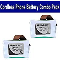 Energizer ER-P2419 Cordless Phone Combo-Pack includes: 2 x UL419 Batteries