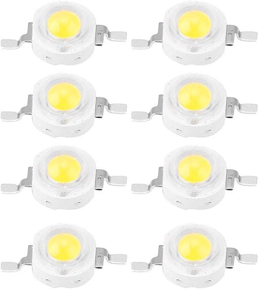 Bombilla LED Chip, 1 W Chip de Alta Potencia, 100PCS LED Chip de ...