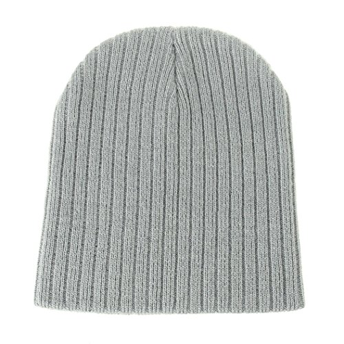 Colorido Unisex Infant Baby Winter Warm Ribbed Soft Knitted Beanie Hat Casual Cap size One Size (Light Grey)