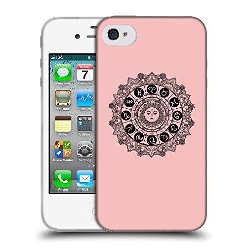 GoGoMobile Coque de Protection TPU Silicone Case pour // Q08610610 Zodiac 1 Bébé rose // Apple iPhone 4 4S 4G